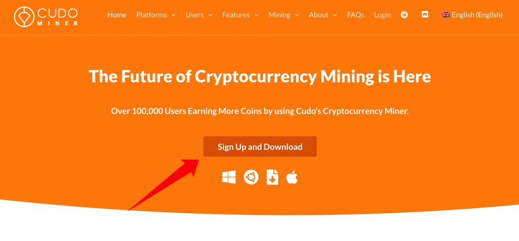 Cudo Miner Tutorial: Sign up an account